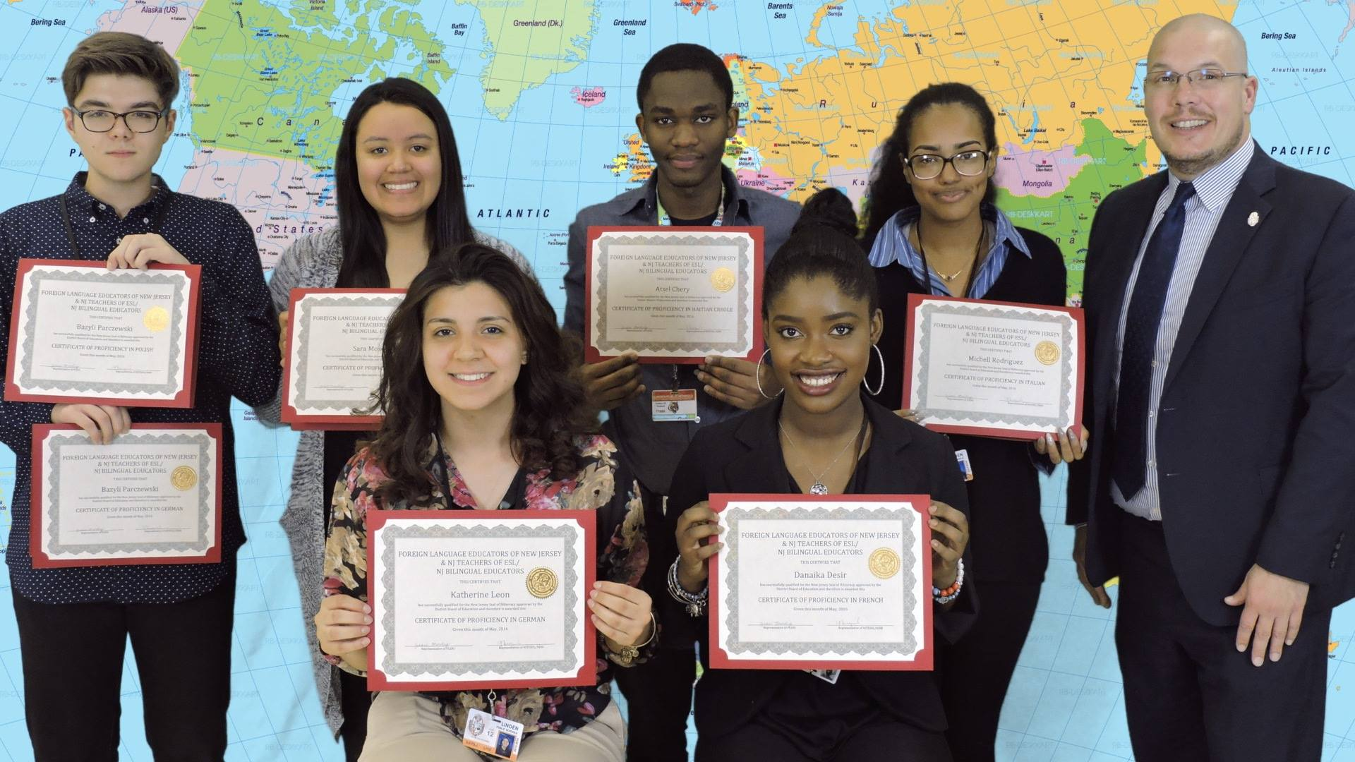 Linden Schools Superintendent Recognized as 30 LHS Students Earn the Seal of Biliteracy