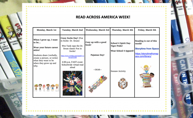 Read Across America Week (March 1, 2021 to March 5, 2021)