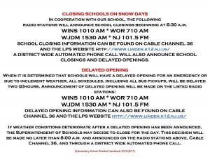School Closing Snow Day Info