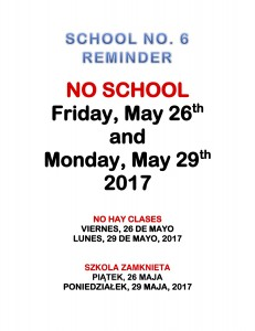 Memorial Day No School