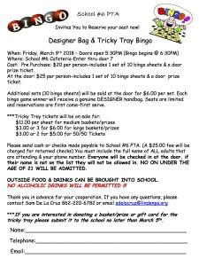Designer Bag Bingo 3-9-18