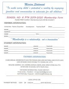 2019 PTA Membership