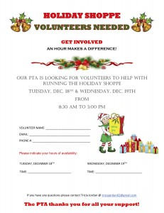 Holiday Shoppe Volunteer 2018