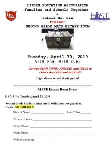 2nd Grade Escape Room Flyer