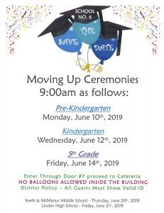 Graduation Dates 2019