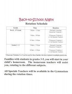 Back to School Night Flyer 2