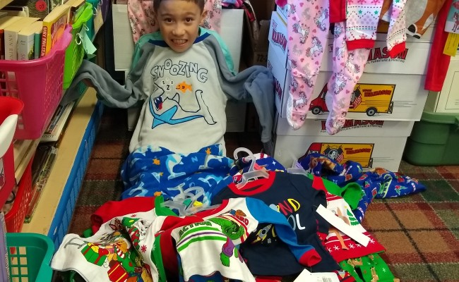 School 9's Great Bedtime Story Pajama Drive